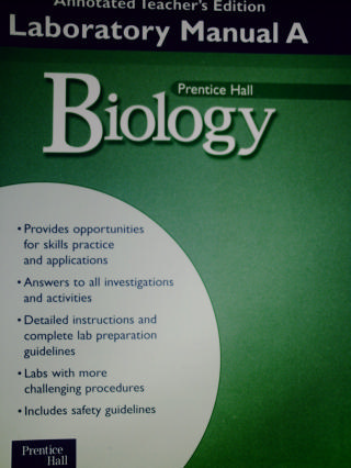 Biology Laboratory Manual A ATE TE P 0130545503