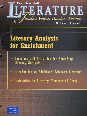 Literature Silver Level Literary Analysis for Enrichment (P)
