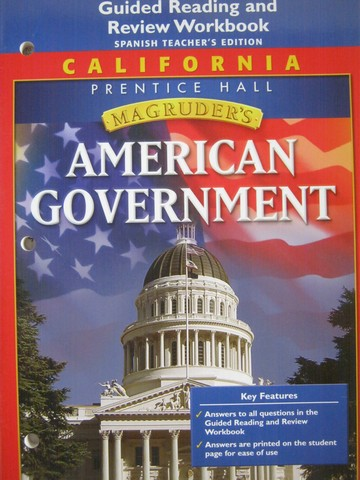 Magruder's American Government Guided Reading Spanish TE (CA)(P)