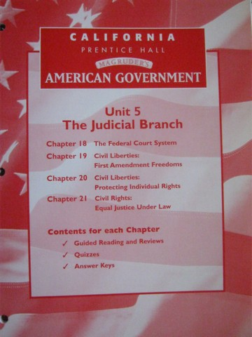 Magruder S American Government Unit 5 Resources CA P