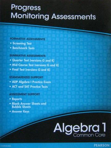 Algebra 1 Common Core Progress Monitoring Assessments (P)