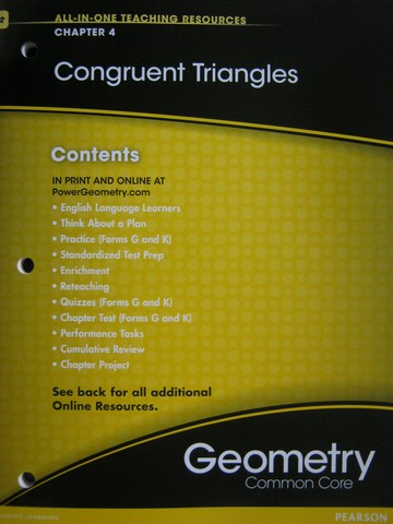 Geometry Common Core All-in-One Teaching Resources 4 (P)