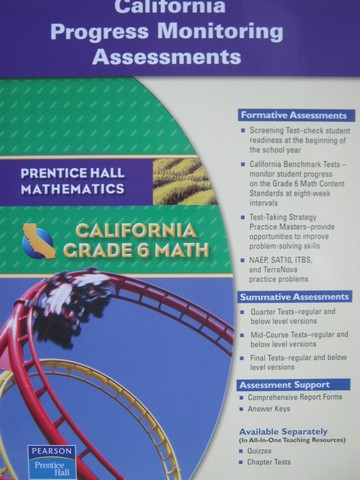 California Grade 6 Math Progress Monitoring Assessments (CA)(P)