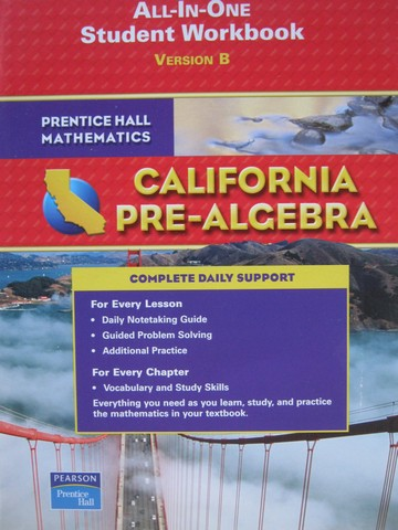 California Pre-Algebra All-in-One Student Workbook B (CA)(P)