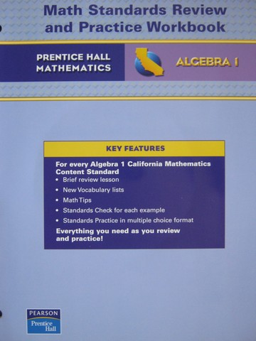 California Algebra 1 Math Standards Review & Practice (CA)(P)