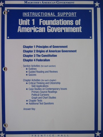 Magruder S American Government Instructional Support Unit 1