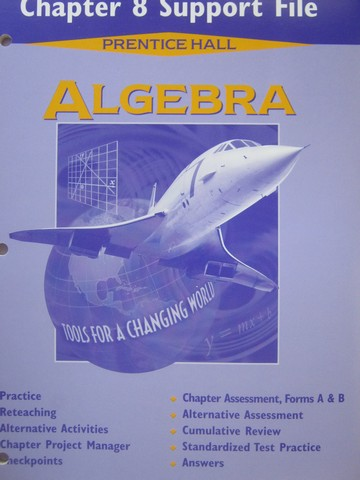 Algebra Tools for a Changing World Chapter 8 Support File (P)