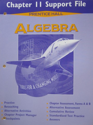 Algebra Tools for a Changing World Chapter 11 Support File (P)