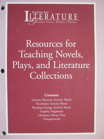 Ph Literature Resources For Teaching Novels Plays Tep