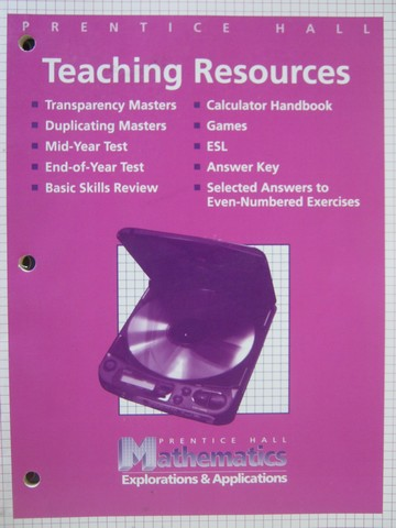 Mathematics Explorations & Applications Teaching Resources (P)