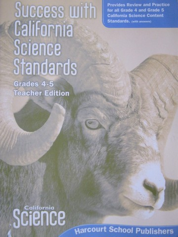 California Science 4-5 Success with Science Standards TE (CA)(P)