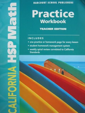 California HSP Math 3 Practice Workbook TE CA TE P
