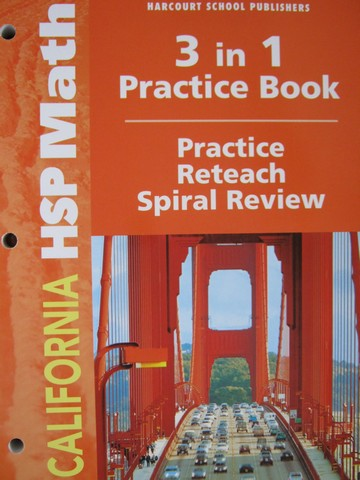 California HSP Math 4 3 in 1 Practice Book (CA)(P)
