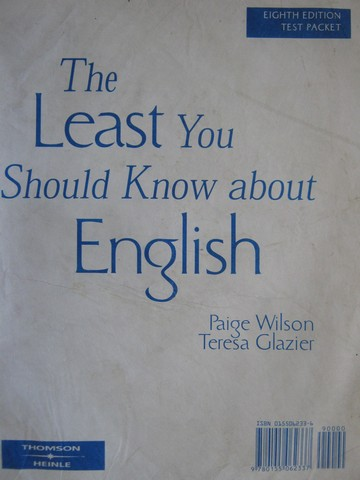 Least You Should Know about English 8th Edition Test Packet (Pk)