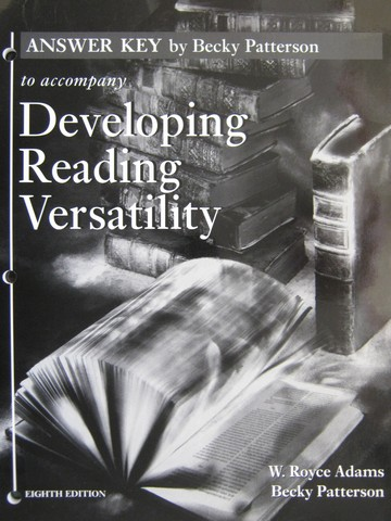 Developing Reading Versatility 8th Edition Answer Key (P)