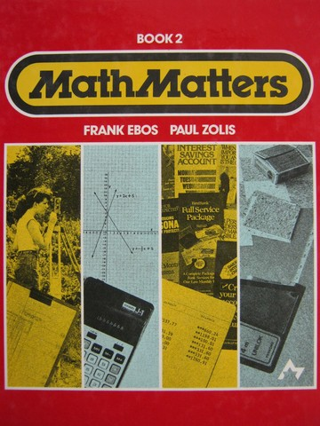 MathMatters Book 2 (H) by Frank Ebos & Paul Zolis