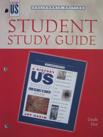 A History of US 3e 5 From Colonies to Country Study Guide (CA)(P