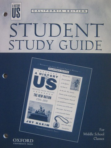 A History of US Revised 3e The New Nation Study Guide (CA)(P)