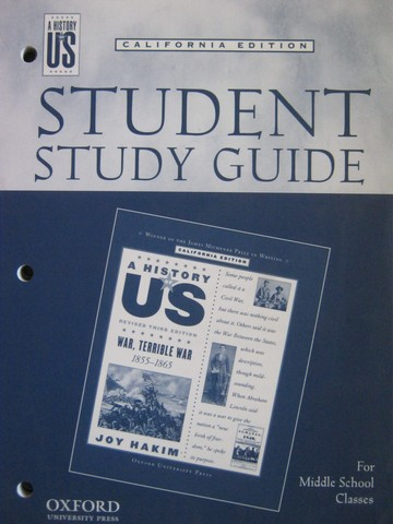 A History of US Revised 3e War Terrible War Study Guide (CA)(P)