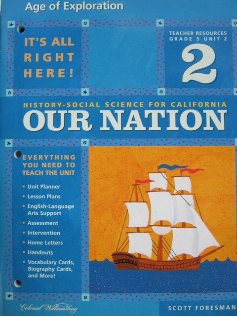 History-Social Science for California 5 Unit 2 TR (CA)(TE)(P)