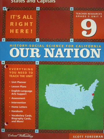 History-Social Science for California 5 Unit 9 TR (CA)(TE)(P)