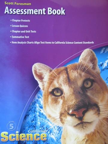 California Science 5 Assessment Book CA P 0328236306