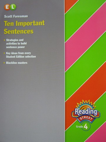 Reading Street 4 EL Ten Important Sentences (P)