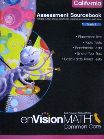 enVision Math California Common Core 1 Assessment Sourcebook (P)