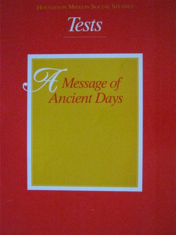 A Message of Ancient Days 6 Tests (P) - Click Image to Close