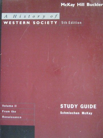 A History of Western Society 5e Study Guide Volume 2 (P)