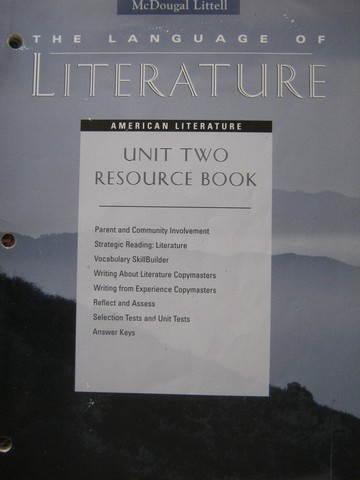 Language of Literature American Literature Unit 2 Resource (P)