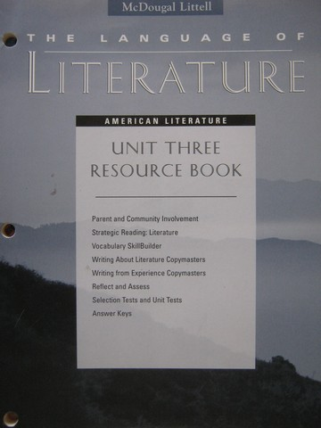 Language of Literature American Literature Unit 3 Resource (P)