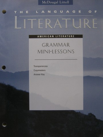 Language of Literature American Literature Grammar Mini (P)