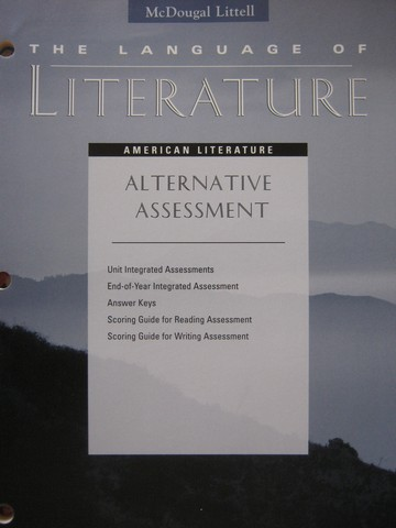 Language of Literature American Literature Alternative (P)