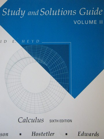 Calculus 6th Edition Study & Solutions Guide Volume 2 (P)