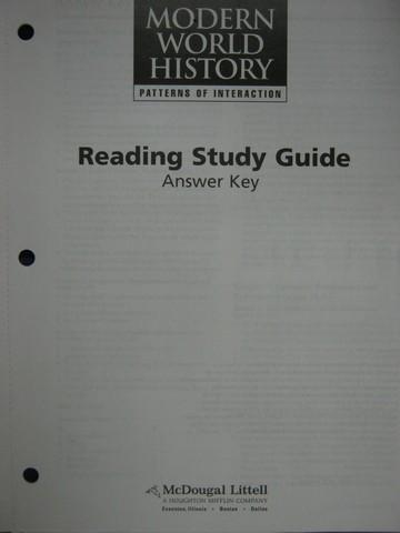 Modern World History Reading Study Guide Answer Key P