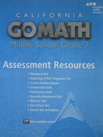California Go Math Middle School 7 Assessment Resources (CA)(P)
