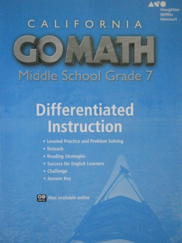 California Go Math Middle School 7 Differentiated Instruction(P)