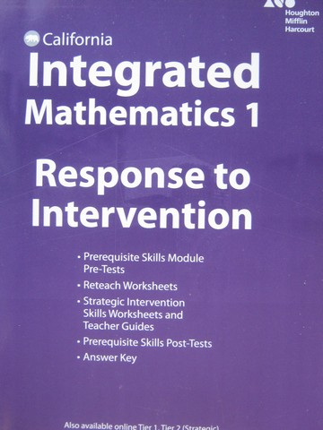 Integrated Mathematics 1 Response to Intervention (CA)(P)