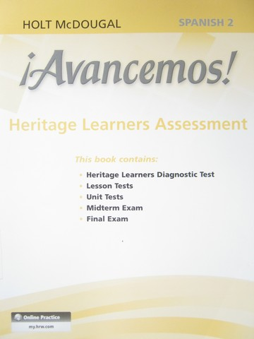 Avancemos! 2dos Heritage Learners Assessment (P)