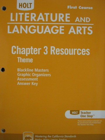Literature & Language Arts 1st Course Chapter 3 Resources (CA)(P