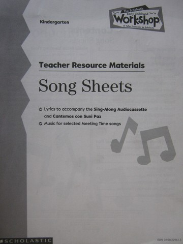 Early Childhood Workshop K TRM Song Sheets (TE)(P)