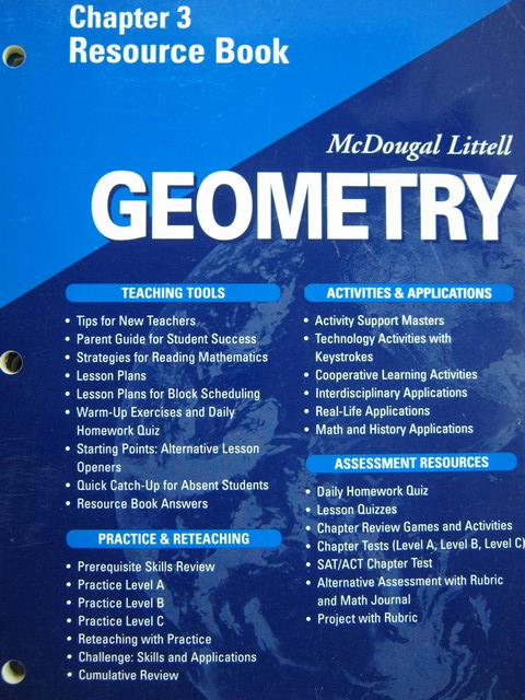 Geometry Chapter 3 Resource Book Lesson 33 Practice A Answers
