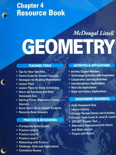 Geometry Applying Reasoning Measuring Chapter 1 Resource P