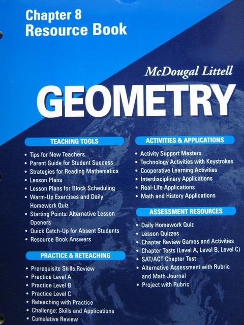 Geometry Applying Reasoning Measuring Chapter 8 Resource (P