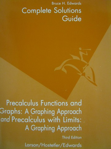 Precalculus with Limits 3rd Edition Complete Solutions Guide (P)