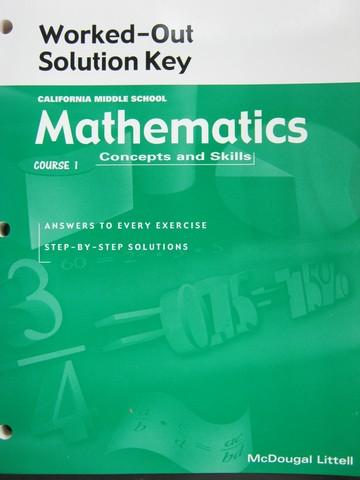 Mathematics Course 1 Worked-Out Solution Key (CA)(P)