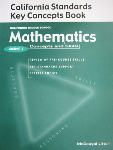 Mathematics Concpts & Skills Course 1 Key Concepts (CA)(P)