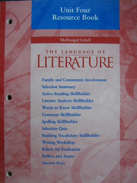 Language of Literature 7 Unit 4 Resource Book (P)