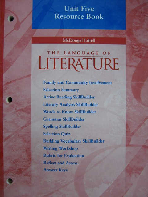 Language of Literature 7 Unit 5 Resource Book (P)